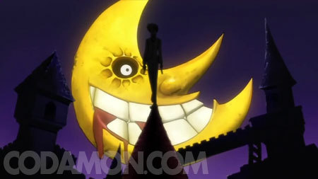 as আপনি CAN'T see this is death the kid from soul eater standing in front of the moon.(and yes the moon has a rape face)