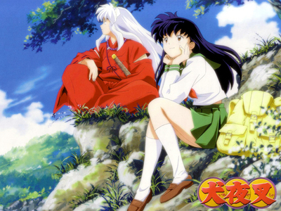 Inuyasha and kagome (inuyasha) at the begining they both hate eh other....inuyasha really liked to see her die o kill her.....but later they started to like each other and become lovers,,,now Inuyasha cant stand away from her o she getting hurt.....its the same with kagome..........he he he e