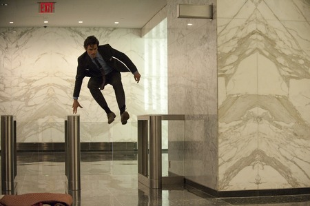 Matt Bomer as Neal Caffrey (he is rushing off to Peter's rescue)