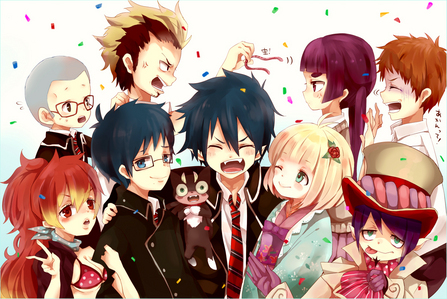 Ao no Exorcist!! :D at the start Rin hated some of his classmates, but in the end they were forced to work together and eventually became friends~