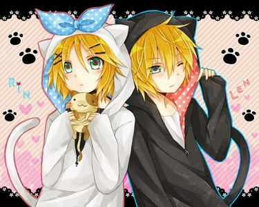 well, they are two persons but....the Kagamine twins