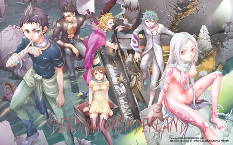 In my opinion Deadman Wonderland doesn't have romance in it. Maybe one or two hints, but nothing else.