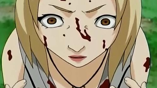 Tsunade (Naruto Shippuden) she had Hemophobia ,..........