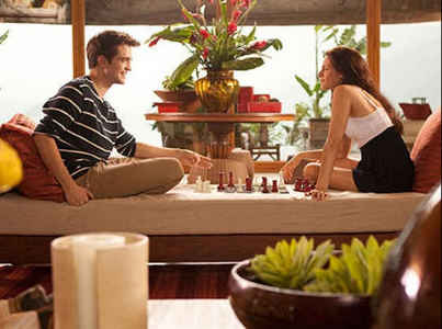 my handsome baby and the beautiful Kristen,in a scene from BD part 1 in the living room of their honeymoon bungalow<3