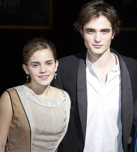 my handsome baby with his HP co-star,Emma Watson<3