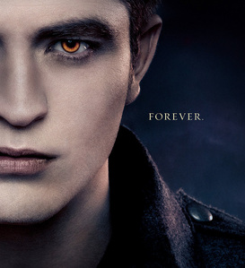 my sexy baby on the BD 2 poster with part of his face cut off(which I find very wrong)<3