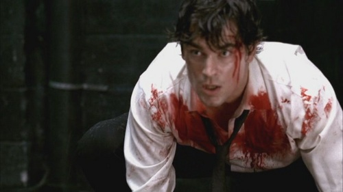 Matt Bomer as Bryce Larkin during the Pilot of Chuck and boy does he look hotter when covered in blood :)
