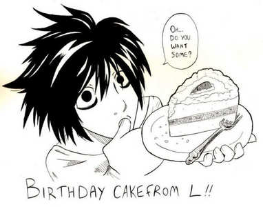 HAPPY BIRTHDAY! Here is some birthday cake from एल :3