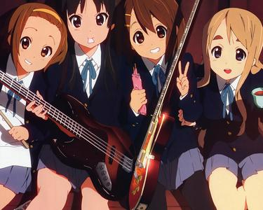 K-On has no romance in it from what I can remember, just friendship ^_^