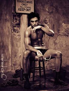 my sexy,shirtless boxer<3