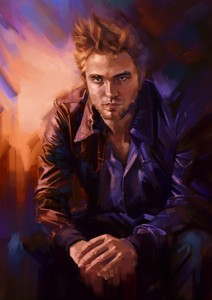 an oil painting of my gorgeous Robert<3