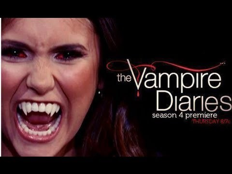 Elana becomes a vampire the last episode of season three, and the first episode of season four.