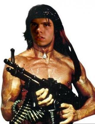 Matthew Lawrence as Rambo. :)