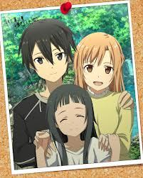 Kirito, Asuna and Yui from Sword Art Online