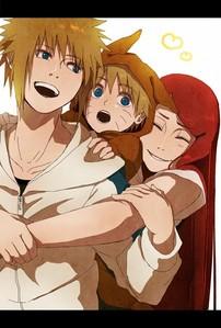 Uzumaki Family~!! <33 I wish Minato & Kushina were alive~ T^T