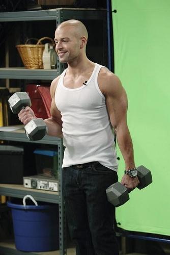 Joey Lawrence has large biceps. :)