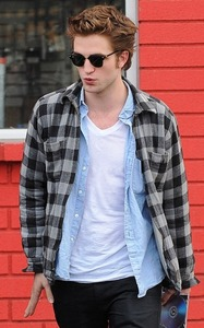 my baby in a checkered plaid shirt<3