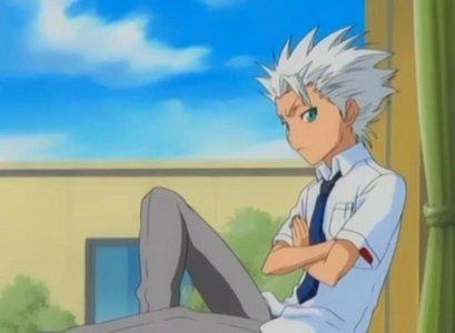 Toshiro Hitsugaya (Bleach) Toshiro in school uniform.........heh eh eh eh eh