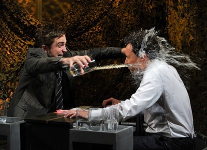 my baby flinging water at Jimmy Fallon<3<3<3