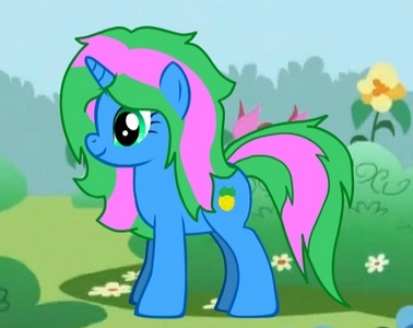 This is Tropical breeze :) and 你 can make a picture of her doin whatever 你 want! Btw her cutie mark is a pineapple :3