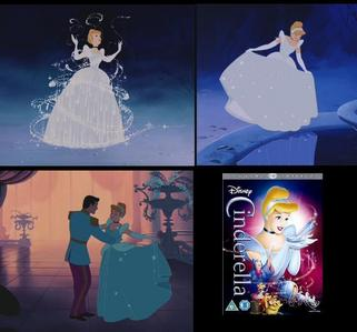 Cinderella's dress is most definately silver and white. In its earliest home release (1988) it looked white, but in the two times it was restored (1995 and then again in 2005), it was clearly silver and white. It just looked blue in settings that were darker, like when Cinderella danced with the prince.