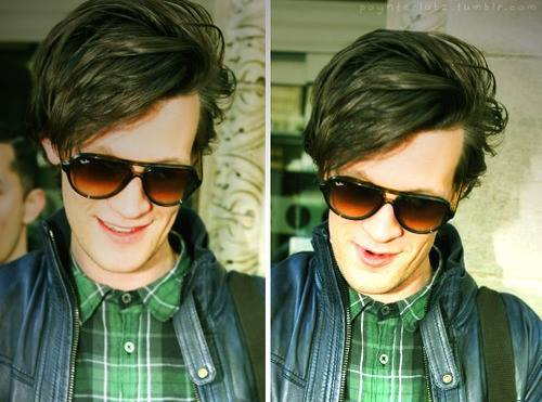 Sweet Matt Smith with a really cool jaket