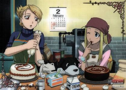 Riza Hawkeye and Winry Rockbell from Fullmetal Alchemist! XD