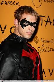 Twilight hottie Kellan Lutz dressed as Robin at the Taos Halloween bash in Las Vegas<3