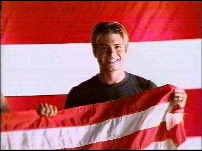 Matthew with an U.S flag. :)