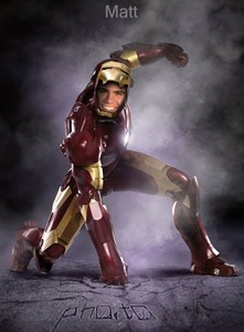 Matthew as Iron Man. :)