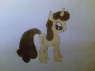 Can u draw my OC Coffee Creme? Her cutie mark is a quill pen writing on a book.