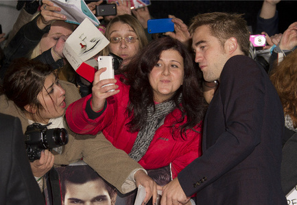 my gorgeous baby with a group of fans<3