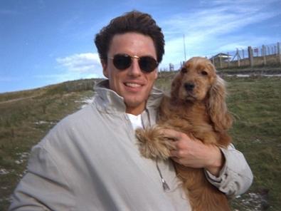 John Barrowman and his dog<3 R.I.P Charlie :'(