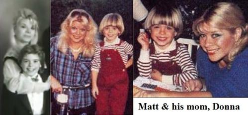 Little Matt with his mum, Donna. <33333