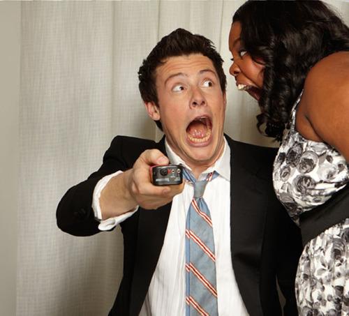 Cory Monteith and Amber Riley..Haha