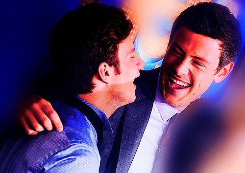 Chris Colfer and Cory Monteith<3