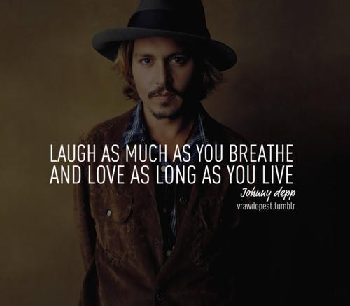 A perfect quote por Johnny Depp ♥