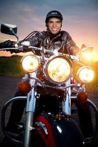 Matthew on a motorcycle. :)