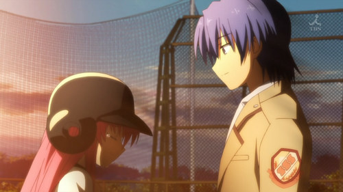 Yui and Hinata from Angel Beats.