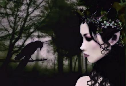 A gothique fairy ou a vampire. Maybe a witch.