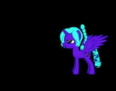 Name: MidnightSong Gender: girl Cutie Mark: 2 সঙ্গীত notes ONE অথবা TWO Hobbies: singing, and playing tricks on people BRIEF Personality: Mischievous, loud, and fun ONE SPECIAL fact: her parents are just regular old pony's and have nothing to do with darkness, so no one now's why she's an Alicorn, some say she's a blessing, but others, say she's a curse
