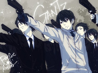 Gantz.. I watched it because it was suspenseful and I wanted to say what would happen.. but the ending was pretty weird and disappointing.. the whole series was pretty much just a gore fest too.