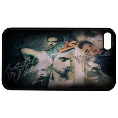 my gorgeous Robert's face on the manzana, apple iphone 5G hard faceplate case cover<3