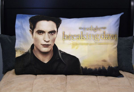 I have this pillowcase of my baby(as Edward).I have such sweet dreams with(and of) my baby<3