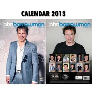 John Barrowman calendar which is hanging up on my cupboard door :)
