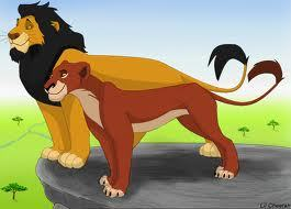 Because Taka/Scar has Ahadi's mane and Mufasa has Uru's Redish mane