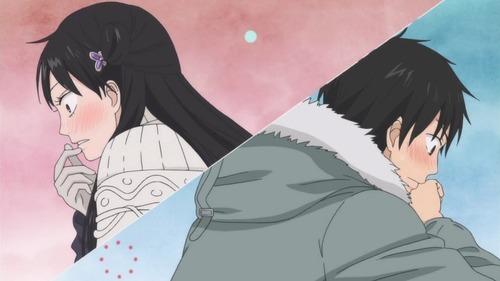 Sawako and Shota! They're so cute, always blushing! From Kimi ni Todoke.