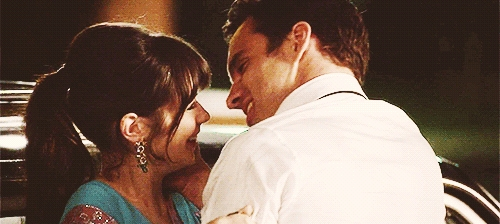 Here's Jake with costar Zooey Deschanel in the last episode of season 2 of New Girl... Can't wait for season 3 to start in September! :D