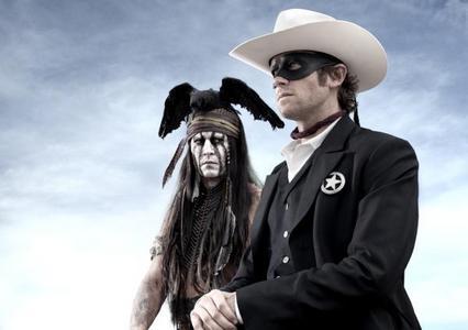 "Johnny Depp from "" The lone ranger "" movie ."