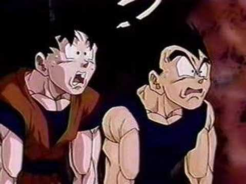 Goku and Vegeta's funny reaction faces XD I could talk to anda if anda want,via dinding post